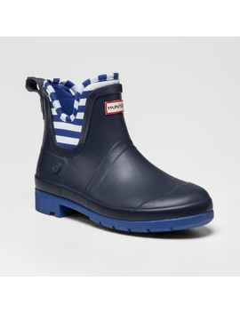 Hunter For Target Kids' Waterproof Ankle Rain Boots   Navy by Hunter For Target
