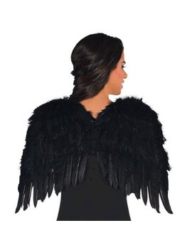 Black Feather Wings 22 Inch Dark Angel Costume by Costumes Usa