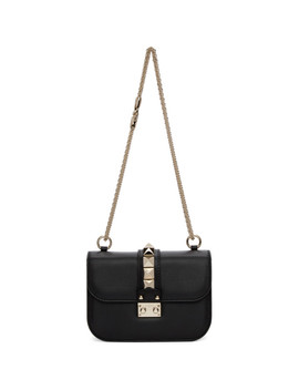 Black Valentino Garavani Small Lock Bag by Valentino