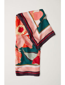 Patterned Satin Scarf by H&M