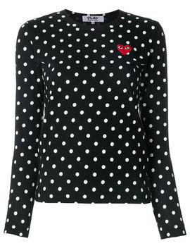 polka-dot-heart-logo-t-shirt by comme-des-garçons-play