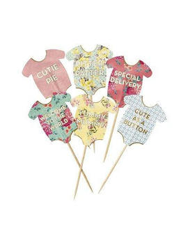Baby Shower Cake Toppers 24 Pack, Cake Decorations, Baby Shower, New Baby, Christening by Etsy