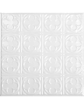 "American Tin Ceilings 24"" X 24"" Metal Backsplash Panel Kit In Bright White Satin & Reviews by American Tin Ceilings"