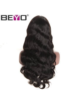 Beyo Hair Malaysian Body Wave Lace Front Human Hair Wigs For Black Women Non Remy Wigs With Baby Hair Pre Plucked Free Shipping by Be Yo Official Store