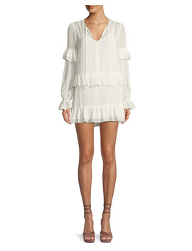 Darla Long Sleeve Ruffled Mini Dress by Tularosa