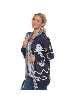 Juniors' Pink Republic Print Open Front Cardigan by Kohl's