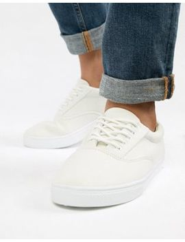 New Look Canvas Lace Up Sneaker In White by New Look