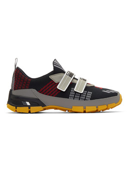 Black Nylon Tech Fly Sneakers by Prada