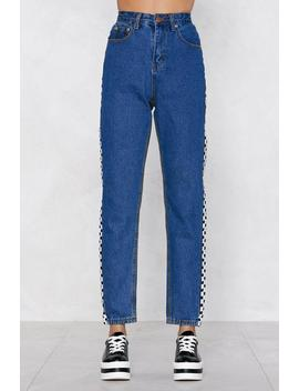 Don't Play Games Checkerboard Jeans by Nasty Gal