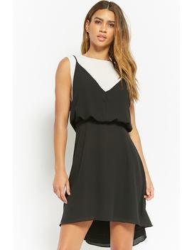Layered Chiffon Combo Dress by Forever 21