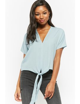 Tie Front Boxy Top by Forever 21