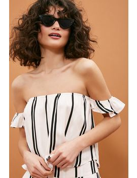 Multi Striped Off The Shoulder Top by Forever 21