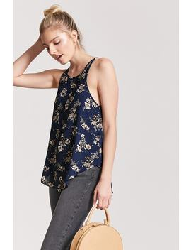 Floral Dolphin Hem Tank Top by Forever 21