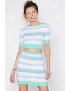 Fluffy Knit Striped Co Ord by Nasty Gal
