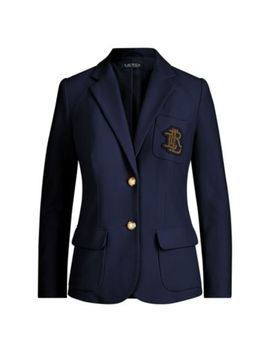 Crest Cotton Piqué Blazer by Ralph Lauren