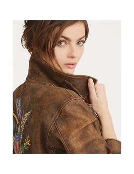 Distressed Leather Jacket by Ralph Lauren