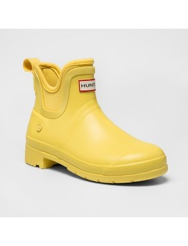 Hunter For Target Women's Waterproof Ankle Boots   Yellow by Hunter For Target