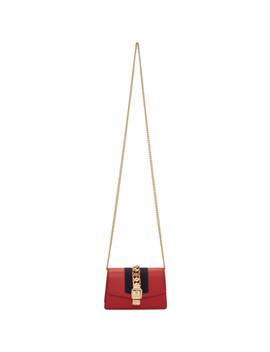 Red Super Mini Sylvie Bag by Gucci