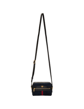 Navy Suede Mini Ophidia Bag by Gucci