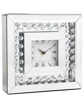 Clear Gems Mirrored Desk Clock by Pier1 Imports