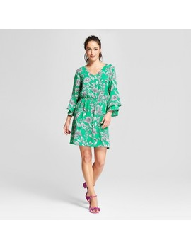 Women's Floral Tiered Bell Sleeve Dress   A New Day™ by A New Day™