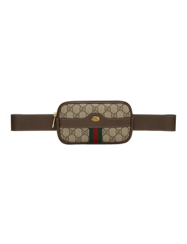 Brown Mini Gg Supreme Default Belt Bag by Gucci