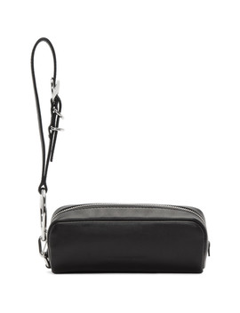 Black Ace Wristlet Clutch by Alexander Wang