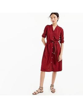 Petitelong Sleeve Belted Knit Dress by J.Crew