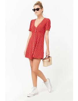 Crepe Floral Swing Dress by F21 Contemporary