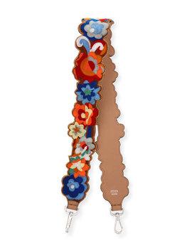 Strap You Floral Terry Shoulder Strap For Handbag by Fendi