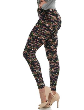 Lmb Lush Moda Extra Soft Leggings With Designs  Variety Of Prints by Lmb