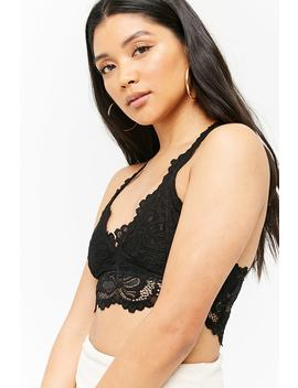 Lace Scalloped Bralette by Forever 21