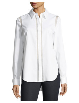 Landra Button Front Blouse by Elie Tahari