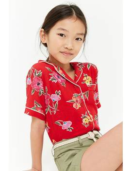Girls Floral Print Shirt (Kids) by Forever 21