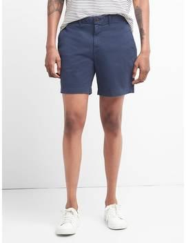 """7"""" Washwell Vintage Wash Shorts With Gap Flex by Gap"""