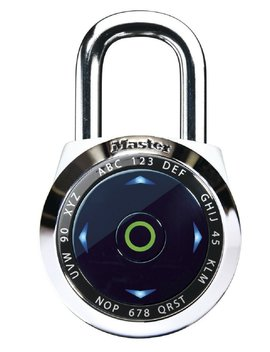 Master Lock Padlock, Dial Speed Set Your Own Combination Digital Lock, 2 1/16 In. Wide, Assorted Colors, 1500e Xd by Master Lock