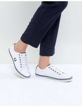 Fred Perry Kingston Lace Up Trainer With Tipping Detail by Fred Perry