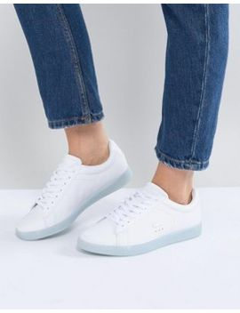 Lacoste Carnaby Evo 118 3 White With Blue Sole by Lacoste
