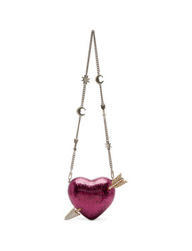 Pink Heart & Arrow Broadway Bag by Gucci