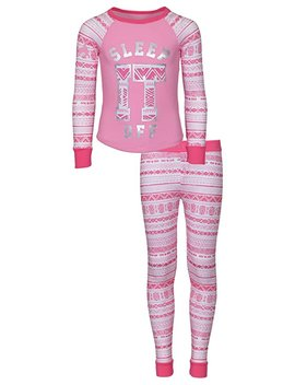 D E Li A*S Girls Printed Thermal Pajamas (Warm Underwear Top And Pants) by D E Li A*S