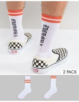 Набор из 2 пар спортивных носков с надписью Asos Design by Asos