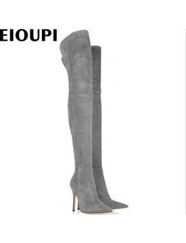 Eioupi Spring Autumn Winter Snow Boots Nubuck Suede Flock Women Over The Knee Thigh High Boot Odfa0436 by Our Fashion Store