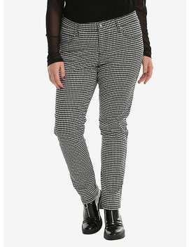 Tripp Black & White Houndstooth Skinny Jeans Plus Size by Hot Topic