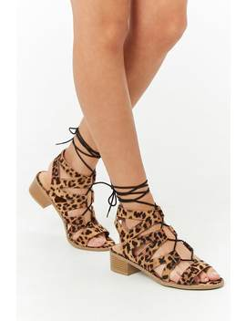Leopard Print Gladiator Sandals by Forever 21
