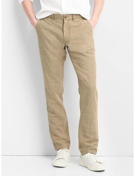Linen Chinos In Slim Fit by Gap
