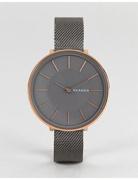 Skagen Skw2689 Karolina Mesh Watch In Gunmetal 38mm by Skagen