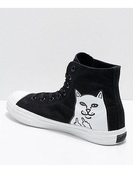 Ripndip Lord Nermal Black & White Hi Top Shoes by Ripndip