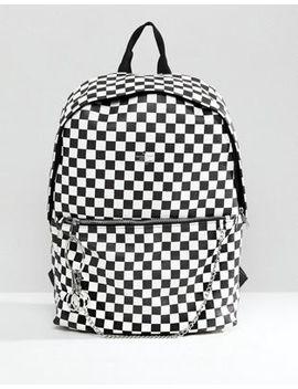 Рюкзак из искусственной кожи с шахматным принтом Asos by Asos