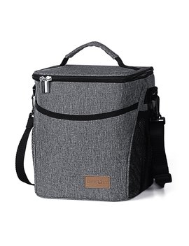 Lifewit Insulated Lunch Box Lunch Bag For Men Women, Thermal Bento Bag, Leakproof Waterproof Cooler Bag For Office / School / Picnic, 9 L, Grey by Lifewit