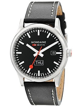 Mondaine Sport   Day And Date   Black Dial   41mm    A667.30308.19 Sbb by Mondaine